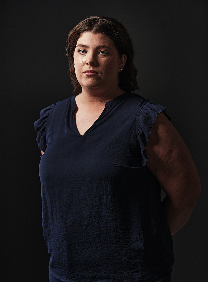 Portrait of a woman. Ovarian Cancer Australia. Paul Scott personal project.